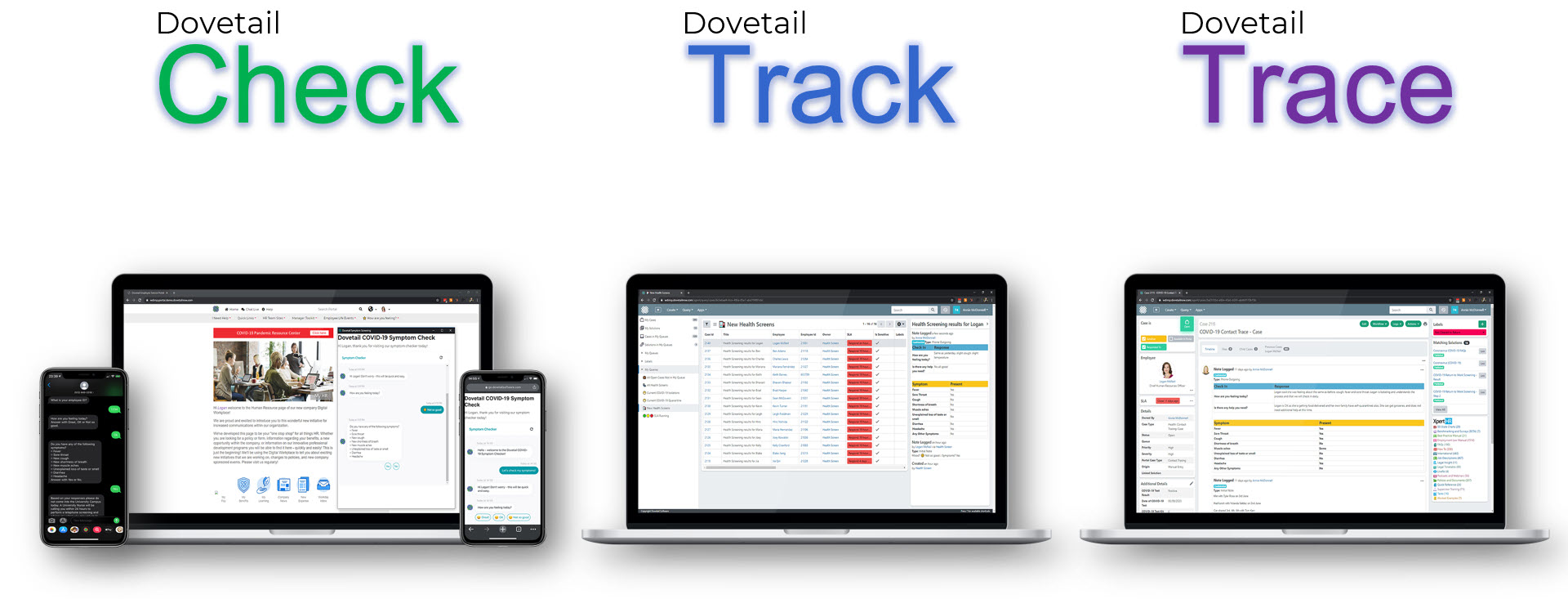 Dovetail Check Track Trace