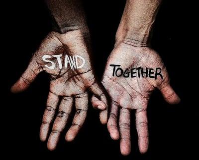 stand together hands blog