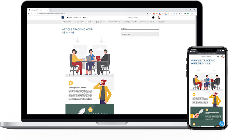 Employee Portal Infographics