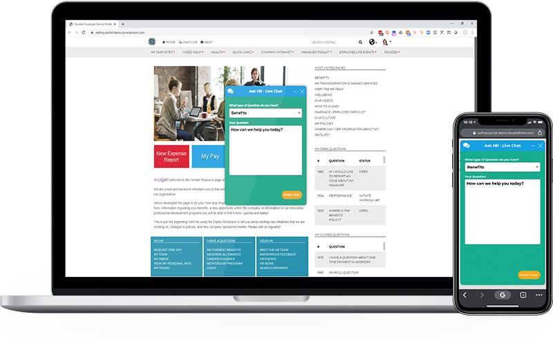 Employee Portal Live Chat