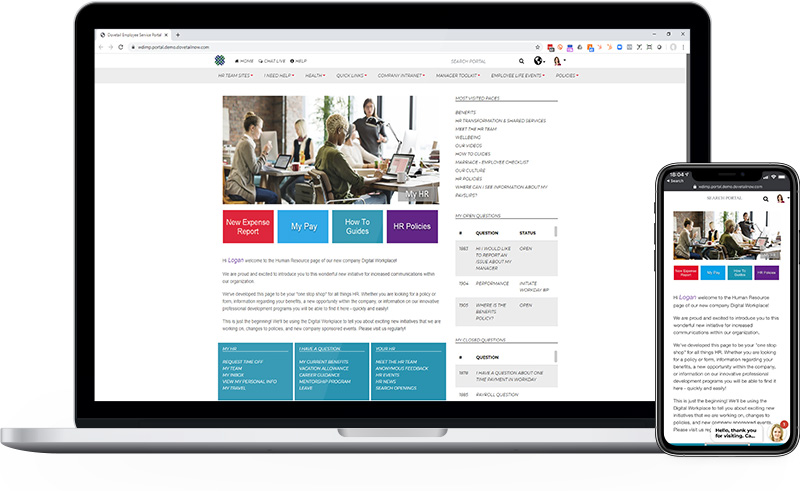 Employee Portal Welcome Page